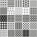 Seamless geometrical pattern set Royalty Free Stock Photography