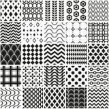 Seamless geometrical pattern set. Seamless geometrical vector pattern set Royalty Free Stock Photography