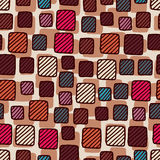 Seamless geometrical pattern with squares royalty free illustration