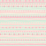 Seamless geometrical pattern with tiny heart and stripes Royalty Free Stock Image