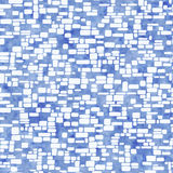 Seamless Geometrical Pattern With Blue Watercolor Texture Royalty Free Stock Image