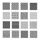 Seamless geometrical patterns Stock Photo