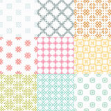 Seamless geometrical patterns Stock Images