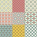 Seamless geometrical patterns Stock Photography