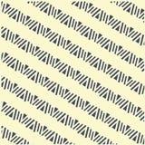 Seamless geometrical shapes diagonal pattern, dark on light, vector Royalty Free Stock Photos