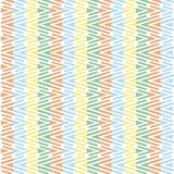 Seamless geometrical shapes horizontal pattern, blue, yellow, green, red on white, vector Royalty Free Stock Photography