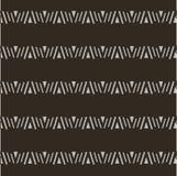 Seamless geometrical shapes horizontal pattern, light on dark Royalty Free Stock Photography