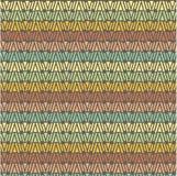 Seamless geometrical shapes horizontal pattern, orange, blue, yellow, green, red on grey, vector Stock Photo