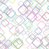 Seamless geometrical square pattern background - vector graphic design from random diagonal squares. With opacity effect royalty free illustration