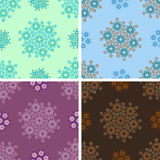 Seamless geometrical wave pattern set. Seamless colored geometrical wave pattern set Royalty Free Stock Photography