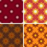 Seamless geometrical wave pattern set. Seamless colored geometrical wave pattern set Stock Image
