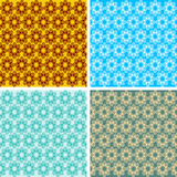 Seamless geometrical wave pattern set. Seamless colored geometrical wave pattern set Royalty Free Stock Photo