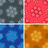 Seamless geometrical wave pattern set. Seamless colored geometrical wave pattern set Royalty Free Stock Images
