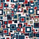 seamless geometrisk modell De mångfärgade fyrkanterna av det olika formatet royaltyfri illustrationer