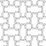 Seamless geometrisk modell för vektor royaltyfri illustrationer