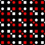 seamless geometrisk modell Svart röd och vit bakgrund