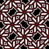 seamless geometrisk modell Svart röd vit bakgrund