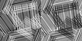 seamless geometrisk modell Svartvitt golv med trätextur Randig och fyrkantig modell vektor illustrationer