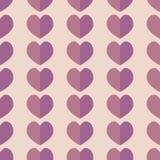Seamless geometriska mönstrar med hjärtor Vektor som upprepar textur royaltyfri illustrationer