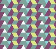 Seamless Geometry Pattern. With triangle and rhombus stock illustration