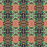 Seamless geometry vintage pattern, ethnic style Royalty Free Stock Photo
