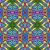 Seamless geometry vintage pattern, ethnic style Stock Images
