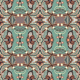 Seamless geometry vintage pattern, ethnic style Stock Photos