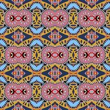 Seamless geometry vintage pattern, ethnic style Royalty Free Stock Photo