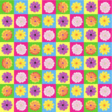 Seamless gerbera pattern Royalty Free Stock Photos