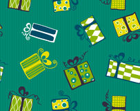 Seamless gift box pattern Royalty Free Stock Photo