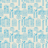 Seamless gift boxes pattern Royalty Free Stock Photography