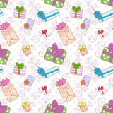 Seamless gift boxes pattern Royalty Free Stock Images