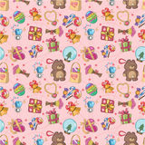 Seamless gift pattern. Illustration Royalty Free Stock Images