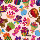 Seamless gift pattern Royalty Free Stock Image