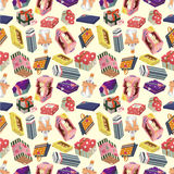 Seamless Gift pattern. Vector drawing Royalty Free Stock Photo