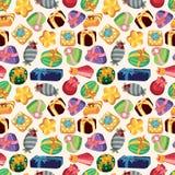 Seamless Gift pattern. Vector,illustration Stock Image