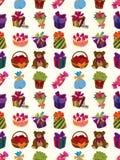 Seamless gift pattern. Cute cartoon vector illusttration Stock Image