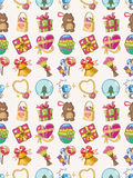 Seamless gift pattern. Cartoon vector illustration Royalty Free Stock Images