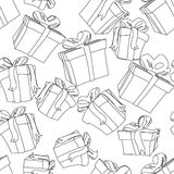 Seamless gift pattern Stock Photography