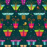 Seamless gift  pattern, vector Royalty Free Stock Photo