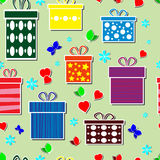 Seamless gifts Stock Photos