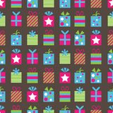 Seamless gifts pattern. Seamless retro gifts pattern wallpaper with clipping mask Royalty Free Stock Image
