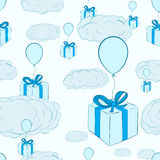 Seamless gifts in the sky Royalty Free Stock Photos
