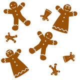 Seamless Gingerbread Background Royalty Free Stock Image