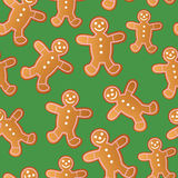 Seamless Gingerbread Men Royalty Free Stock Photography