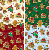 Seamless Gingerbread Pattern Stock Image