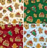 Seamless Gingerbread Pattern