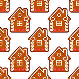 Seamless gingerbread pattern Royalty Free Stock Images
