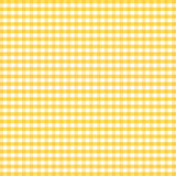 Seamless Gingham Background, Golden Yellow Royalty Free Stock Images