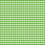 Seamless Gingham Background, Green Royalty Free Stock Photo